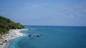 Opinión de la playa de Velika Fotos de archivo