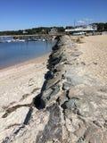 Opinión de la playa del agua Imagen de archivo