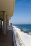 Opinión de la playa del balcón Fotografía de archivo libre de regalías