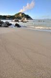 Opinión de la playa del mar Imagen de archivo