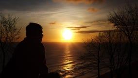 Opinión de la puesta del sol Imagen de archivo
