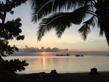 Opinión de la puesta del sol Foto de archivo