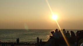 Opinión de la puesta del sol Imagen de archivo libre de regalías