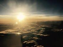 Opinión de la puesta del sol fotos de archivo