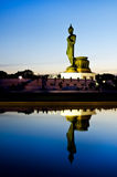 Opinión de la puesta del sol Buda que recorre Fotografía de archivo libre de regalías