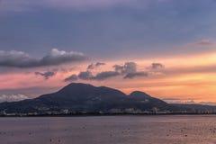 Opinión de la puesta del sol de Bali Taiwán Fotos de archivo libres de regalías