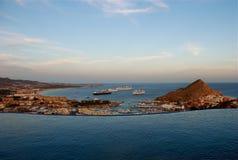 Opinión de la puesta del sol de Pedregal Los Cabos Fotos de archivo libres de regalías