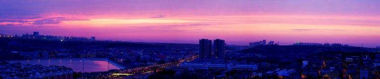 Opinión de la puesta del sol de Urumqi Foto de archivo libre de regalías