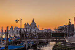 Opinión de la puesta del sol de Venecia Italia Fotografía de archivo libre de regalías