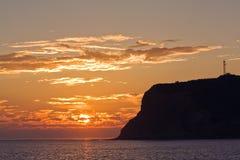 Opinión de la puesta del sol del Point Loma cerca de San Diego, Californ Fotografía de archivo
