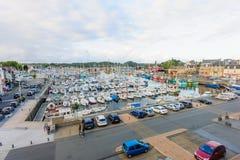 Opinión de la puesta del sol del puerto de Paimpol Imágenes de archivo libres de regalías