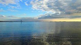 Opinión de la puesta del sol del sudoeste de la Florida, playas fotografía de archivo libre de regalías
