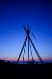 Opinión de la puesta del sol en la isla de Antiparos, Grecia fotos de archivo