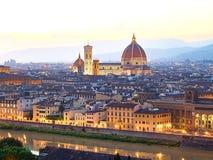 Opinión de la puesta del sol de Florencia, Italia imágenes de archivo libres de regalías