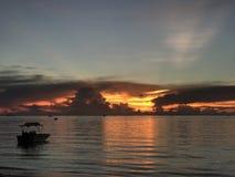 Opinión de la puesta del sol que calma Fotografía de archivo libre de regalías