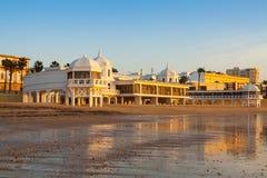 Opinión de la salida del sol de Playa de la Caleta Fotografía de archivo libre de regalías
