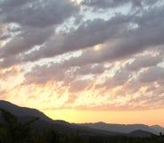 Opinión de la salida del sol en el valle de Vipava, Eslovenia Foto de archivo