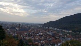 Opinión de la tarde de la ciudad vieja de Heidelberg, Alemania Imagenes de archivo