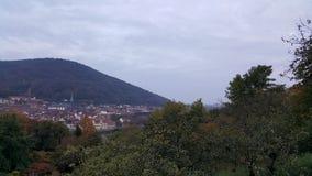 Opinión de la tarde de la ciudad vieja de Heidelberg, Alemania Fotos de archivo