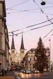 Opinión de la tarde de las calles la ciudad vieja Fotografía de archivo libre de regalías