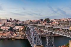 Opinión de la tarde de Oporto Imagenes de archivo