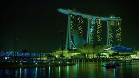 Opinión de la tarde Marina Bay Sands Imagen de archivo libre de regalías