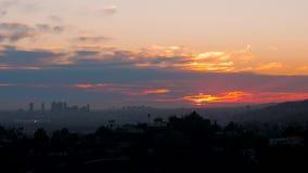 Opinión de la tarde de la puesta del sol Los Ángeles del escarlata almacen de metraje de vídeo