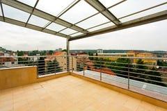 Opinión de la terraza foto de archivo libre de regalías