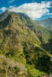 Opinión de la terraza de la montaña Imagenes de archivo