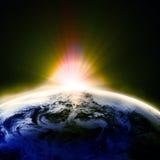 Opinión de la tierra Foto de archivo libre de regalías
