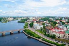 Opinión de la torre de Vyborg Olaf Fotografía de archivo