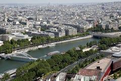 Opinión de la torre Eiffel, París, Francia Imagen de archivo libre de regalías