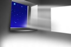 Opinión de la ventana stock de ilustración