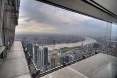 Opinión de la ventana de Shangai Foto de archivo