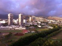 Opinión de la ventana de Waikiki Imagen de archivo
