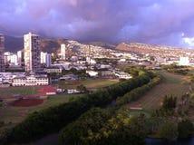 Opinión de la ventana de Waikiki Fotografía de archivo