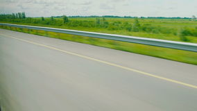 Opinión de la ventana del coche, autobús, tren traveling almacen de metraje de vídeo