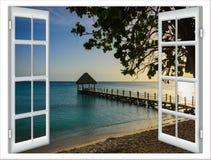 Opinión de la ventana del gazebo Fotos de archivo libres de regalías