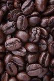 Opinión de la vertical del fondo de los granos de café Fotografía de archivo libre de regalías