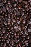 Opinión de la vertical del fondo de los granos de café Imágenes de archivo libres de regalías
