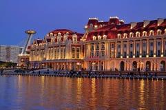 Opinión de LandscapeâNight de la ciudad de Tianjin Imágenes de archivo libres de regalías