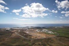 Opinión de Lanzarote - de Arial Costa Teguise Imagen de archivo libre de regalías