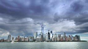 Opinión de lapso de tiempo del Lower Manhattan almacen de video