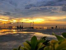 Opinión de las puestas del sol fotos de archivo