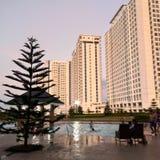 Opinión de las residencias del viento tagaytay Foto de archivo libre de regalías