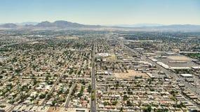 Opinión de Las Vegas Nevada - de Aereal fotografía de archivo libre de regalías