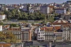 Opinión de Lisboa Fotos de archivo libres de regalías