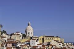 Opinión de Lisboa Foto de archivo libre de regalías