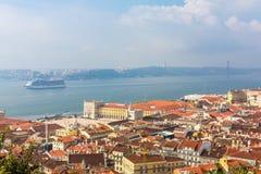 Opinión de Lisboa Fotografía de archivo