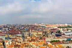Opinión de Lisboa Imágenes de archivo libres de regalías